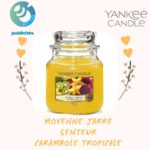 yankee candle moyenne jar carambole tropicale